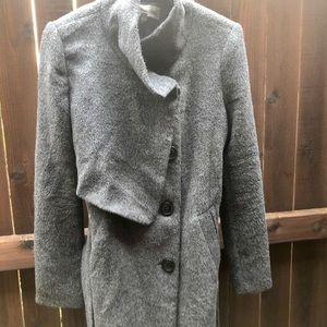 Miilla gray wool like coat good condition size M